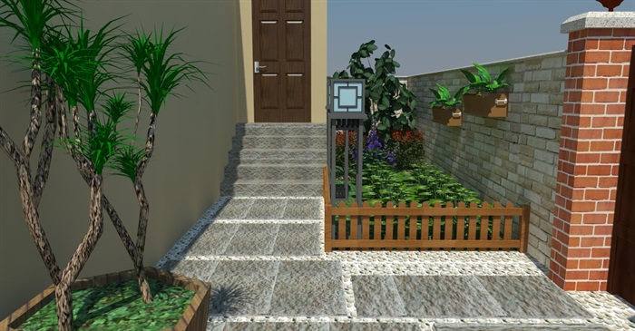 9套日式庭院su模型 cad施工图5套节点日式枯山水庭院