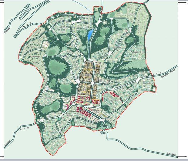 山地乡镇组团概念性城市设计规划方案[原创]