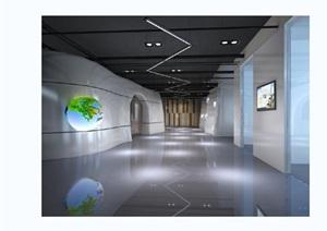 某有限公司展厅展览空间设计cad施工图