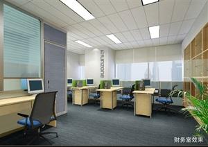 某电器公司办公室装修方案图丶带效果图