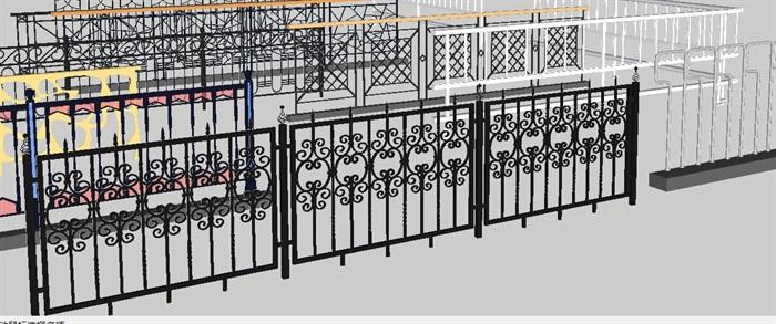 各种阳台防护栏杆合集SU设计模型(3)