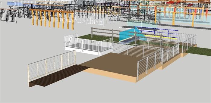 各种阳台防护栏杆合集SU设计模型(7)