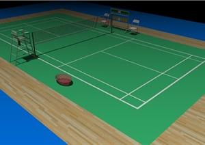 羽毛球比赛场地设计SU(草图大师)模型
