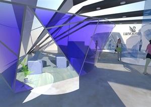 施华洛世奇品牌展厅设计方案SU模型