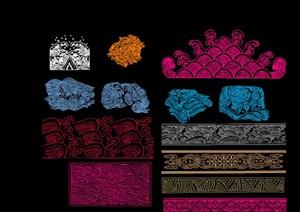中式传统纹样CAD图