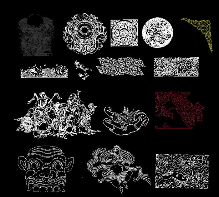 中式傳統紋樣CAD圖