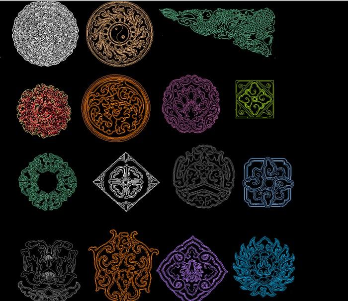 中式傳統紋樣CAD(3)