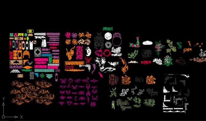 中式傳統紋樣CAD(6)