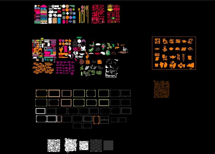 中式傳統紋樣CAD(9)
