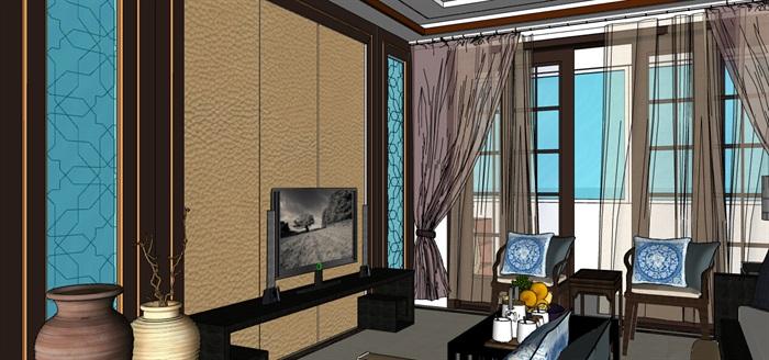 某详细完整住宅室内空间装饰su模型