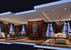 咖啡厅CAD施工图(含效果图)