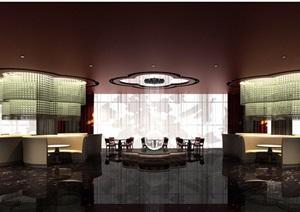 五星级酒店中餐厅设计cad装修图(含效果)