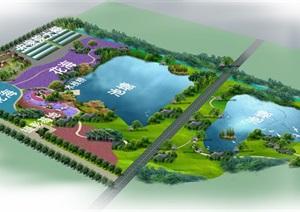 农场鱼池农家乐规划jpg鸟瞰图