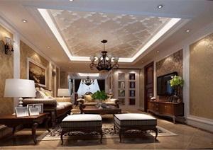 欧式三居室家装设计方案图