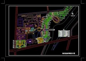 荆河岸园林景观设计cad方案