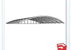 钢结构造型天花SU(草图大师)模型