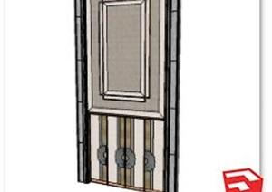 宴会厅大门设计SU(草图大师)模型