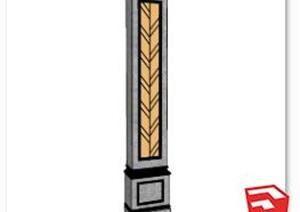 簡歐柱子詳細設計SU(草圖大師)模型