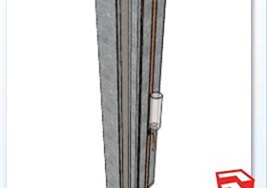 现代柱子素材设计SU(草图大师)模型