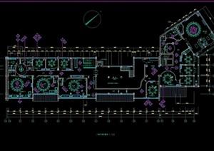 二层中式餐厅装修室内cad施工图