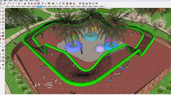 小区儿童活动住宅区景观方案su模型[原创]