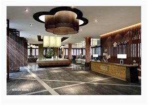 成都平乐古镇上河郡项目售楼部空间jpg方案