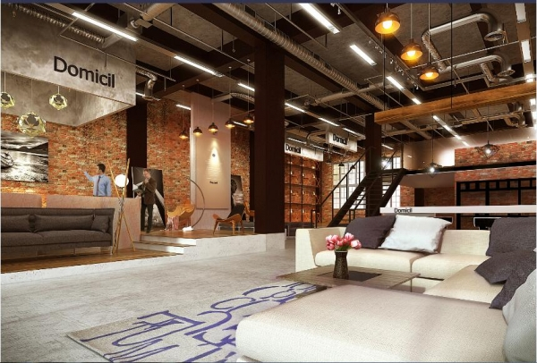 工业产品展示厅设计su模型图片