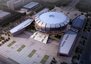 北京教育电视台详细建筑设计jpg效果图