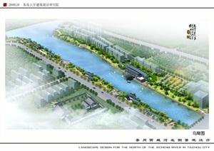 河岸北侧景观环境规划设计方案