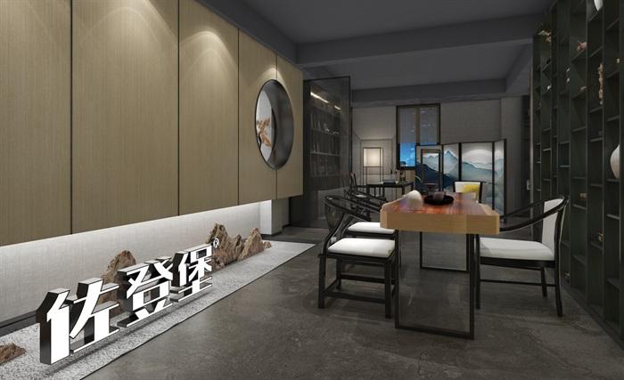 现代轻奢展厅详细室内设计3d模型