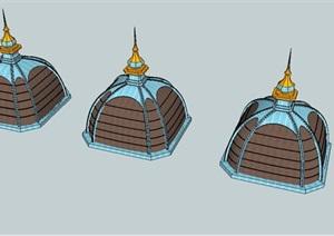 塔顶屋顶建筑SU(草图大师)模型