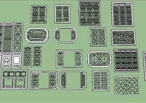 各种花窗SU(草图大师)模型