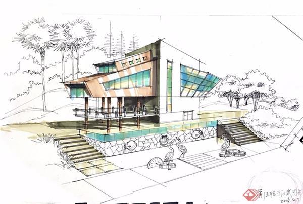 建筑景观设计手绘马克笔上色详细步骤