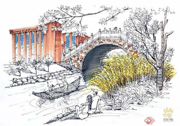 建筑景观设计手绘马克笔上色详细步骤-武汉金汉武环境
