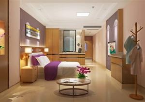 医院月子中心套房室内空间SU(草图大师)模型