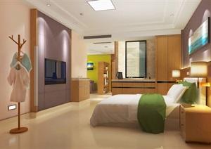 现代月子中心医院套房室内SU(草图大师)模型