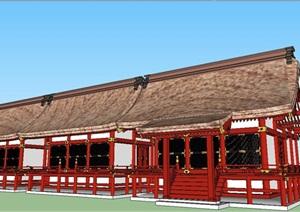 农家乐乡村旅馆建筑SU(草图大师)模型