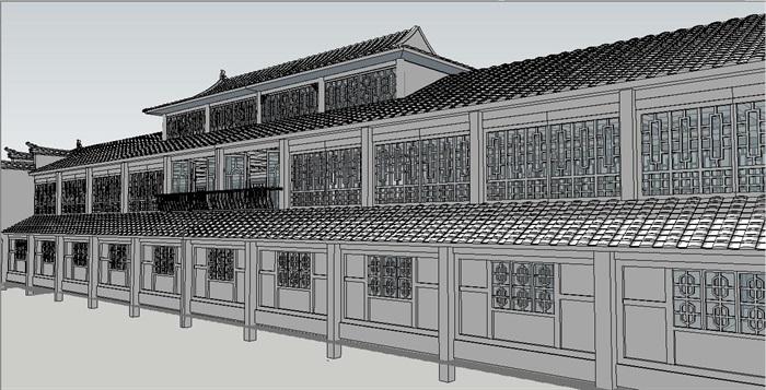 特色大门设计及古典风格商业建筑su模型[原创]