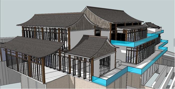 中式坡酒店网站建筑s屋顶[原创]包装设计源文件模型图片