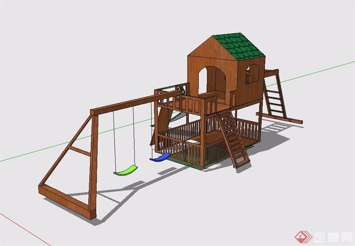 小区儿童游乐设施设计su模型[原创]