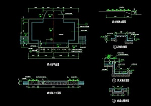 现代跌水池详细设计cad施工图-园林景观节点细部设计素材下载