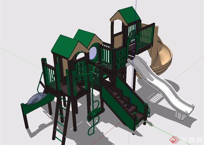 现代儿童游乐设施素材设计su模型[原创]