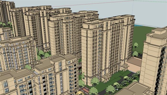 某详细的住宅小区居住楼设计su模型[原创]