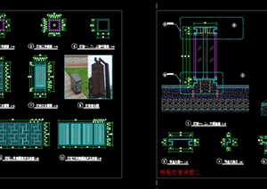 精品中式灯笼风格景观灯柱设计cad施工图