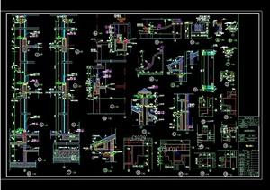 某欧式详细的建筑构件设计cad大样图