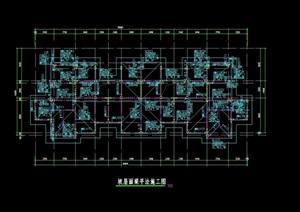 某现代屋面层梁设计cad方案
