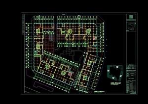 商业多层建筑设计cad方案