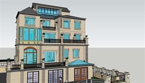 欧式独立别墅设计