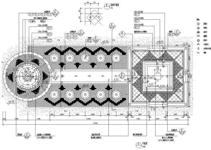 最全园林道路,广场各式铺装设计施工图200套