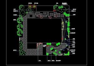 庭院景观绿化设计cad平面图